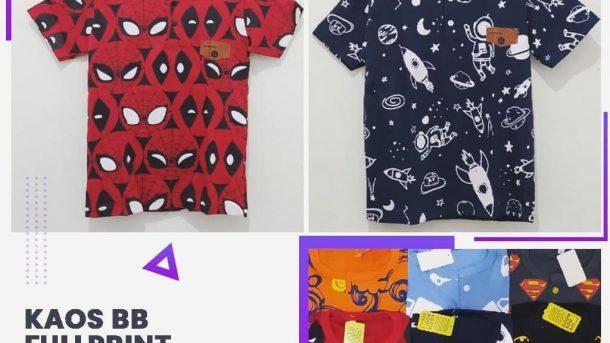 PELUANG USAHA BARU YG BAGUS DI KOTA BANDUNG Distributor Kaos BB Fulprint Termurah Rp 23.000